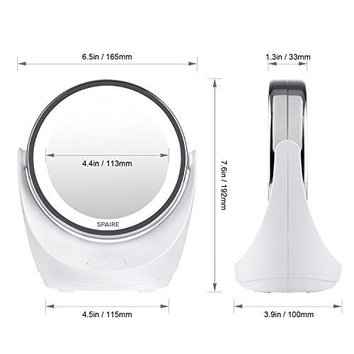 On Sale Spaire Miroir Maquillage 10x 1x Led Double Face Miroir