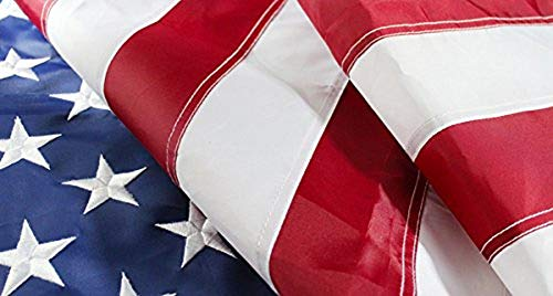 Large American Flag 10'x15' Nylon Embroidered USA HUGE 10x15 Foot United States