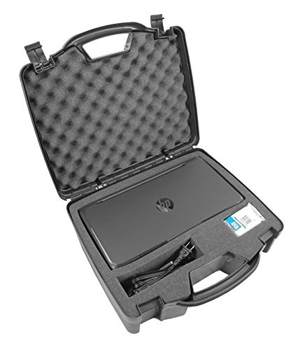 Casematix Portable Printer Carry Case Designed for HP Officejet 200 Wireless Mobile Printer , HP 62 Ink Cartridge and Cables - Also fits Older HP Officejet 150 and 100
