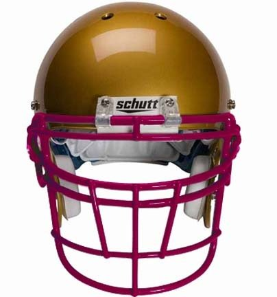 Schutt Maroon Reinforced Jaw and Oral Protection (RJOP-DW) Full Cage Football Helmet Face Guard from