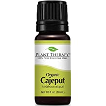 Plant Therapy USDA Certified Organic Cajeput Essential Oil  100% Pure, Undiluted, Therapeutic Grade  10 ml (1/3 oz)