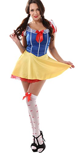 Women's Sexy Christmas Snow White Princess Costume Set (XL) (Sexy Princess Costumes For Adults)