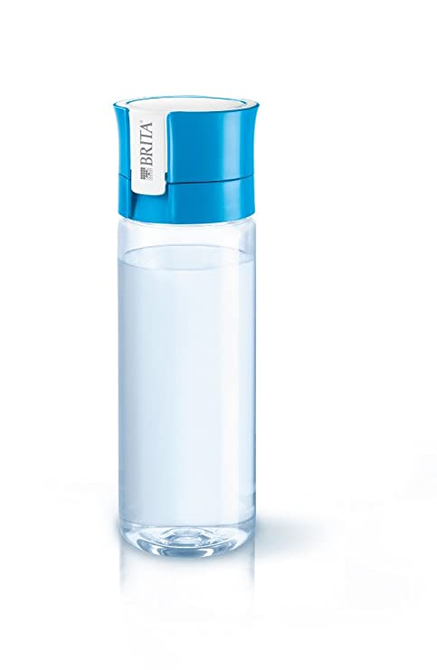 Brita Fill&Go - Botella con filtro de agua, plástico, Azul / Transparente, 0.6 Litros