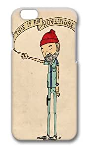Apple Iphone 6 Case,WENJORS Adorable THIS IS AN ADVENTURE Zissou Hard Case Protective Shell Cell Phone Cover For Apple Iphone 6 (4.7 Inch) - PC 3D