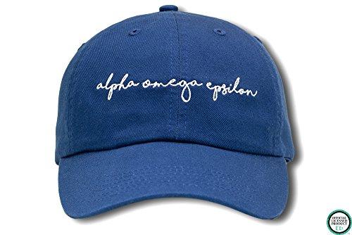 (Alpha Omega Epsilon Fraternity Hat)