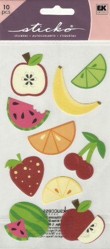 Price comparison product image FRUIT STICKERS BY STICKO (10 STICKERS)