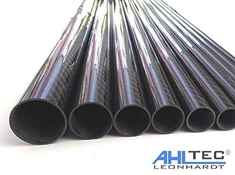 330mm 1 Tubo in carbonio lucido /Ø 30 mm//tubo in fibra di carbonio CFK 3K K/öper//lunghezza a scelta