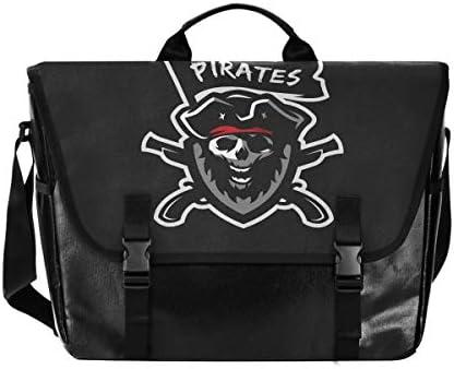 メッセンジャーバッグ メンズ 海賊 骷髅 黒 斜めがけ 肩掛け カバン 大きめ キャンバス アウトドア 大容量 軽い おしゃれ