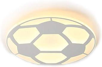 32W LED Lámpara de techo Creativo 3D Balón Fútbol Tema Diseño ...