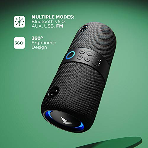 boAt Stone 1200 14W Bluetooth Speaker(Black)