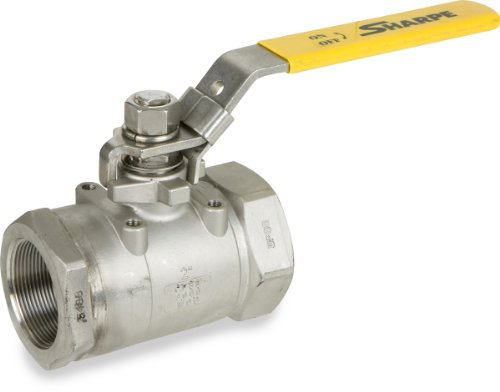 Sharpe Valves 50C767 Series Stainless Steel 316 Ball Valve, Two Piece, Inline, Lever Handle, 1/2