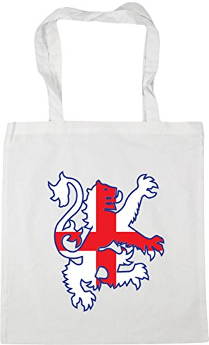 HippoWarehouse Football lion england flag Tote Shopping Gym Beach Bag 42cm x38cm, 10 litres White