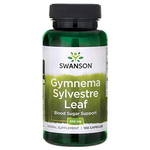 Swanson Premium Gymnema Sylvestre 400mg -- 2 Bottles each of 100 Capsules (Extract Leaf Banaba)