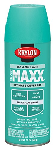 ERMAXX Spray Paint, Satin Sea Glass, 12 Ounce ()