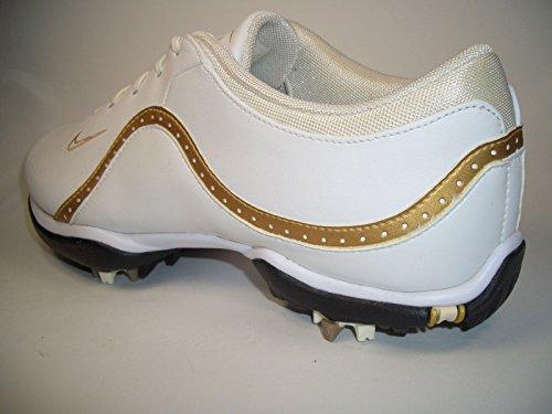 Nike Air Jordan Spike Forty Low, Zapatillas de Baloncesto para Mujer - blanco y dorado