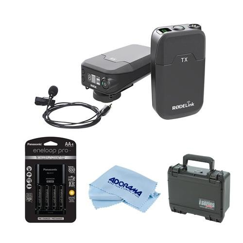 Rode Microphones RODELink Digital Wireless System for Filmmaker, Includes TX-BELT Transmitter, RX-CAM Wireless Receiver, Lavalier Mic Captive TRSCable - With SKB iSeries RodeLink Wireless Case, More