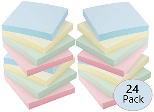 1InTheOffice Assorted Pastel Color Self-Stick Notes 3