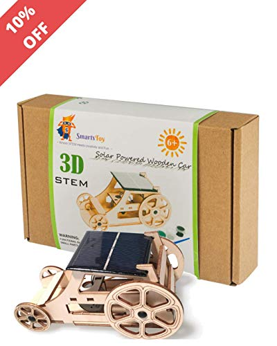 DIY Wooden Model Solar Car Kits to Build - Science