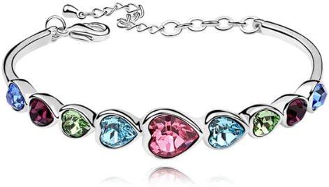 Bracelet Coeur plaqué or en Cristal Swarovski Elements -