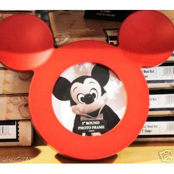 Amazon.com: Disney Mickey Mouse Ear Wood Frame - Red: Home & Kitchen