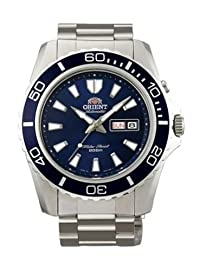 Orient Men's CEM75002D 200M Stainless Steel Blue Dial Diver Watch