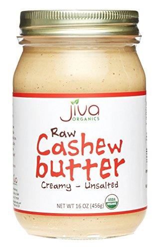 Jiva Organics RAW Organic Cashew Butter 16-Ounce