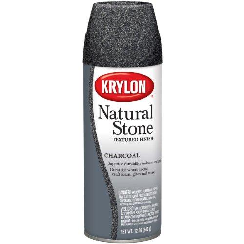 (Krylon Natural Stone Aerosol Spray 12 Ounces Charcoal)