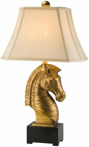 OK Lighting 32 in. Antique Brass Organica Table Lamp