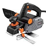 Planer, TACKLIFE Power Hand Planer, 7.5-Amp 900W 14500Rpm 3-1/4-Inch, with 1/96' to 1/8' Adjustable Cut Depth, 2-Side Blow Chips, Parallel Fence Bracket, Ideal Wood Planer for Home DIY - EPN02A
