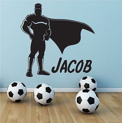 Superman Superhero Personalized Name Boys Room Wall Decal Sticker Decor Vinyl