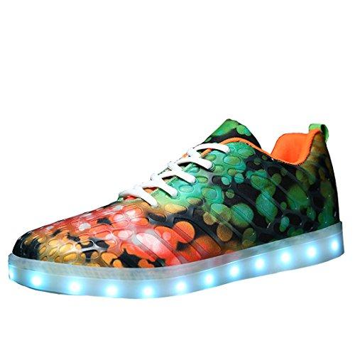 QLVY 発光モード LEDスニーカー LEDシューズ 男女兼用 光る靴  発光靴 LEDシューズ USB充電可能  カップル シューズ