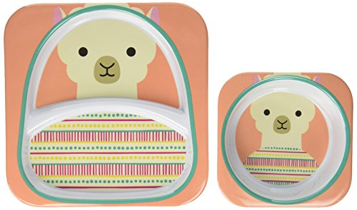 Baby Plate and Bowl Set, Melamine, Llama by Skip Hop