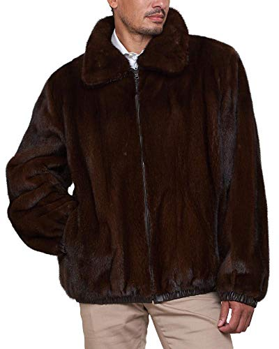 frr Reversible Mink Fur and Leather Jacket in Mahogany