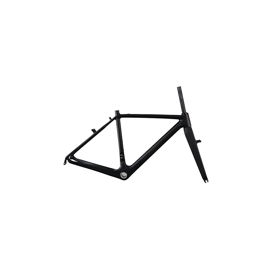 ICAN Carbon Fiber Lightweight Cyclocross Bike Frame with Fork Cantilever Brake UD Matte 48/50/52/54/56/58cm