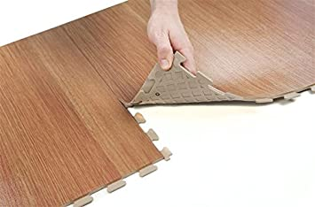 IncStores Wood Flex Multi-Purpose Hidden Interlocking PVC Floor ...