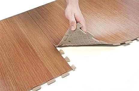 IncStores Wood Flex Multi Purpose Hidden Interlocking PVC Floor Tiles 6  Tile Pack Covers 16.67