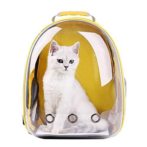 QKEMM Hundetasche Hundetasche Tragetasche Katzentasche aus Tragbaren Rucksack Transparentes Panorama für Katzen Hunde…