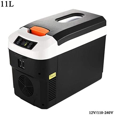 ZWH-ZWH デュアル電圧カー冷蔵庫Coolbox 12V / 220-240Vキャンプ冷蔵庫カーミニ冷蔵庫用旅行キャンプピクニック、11Lデジタルディスプレイ(カラー:ブラック) 車載用冷蔵庫