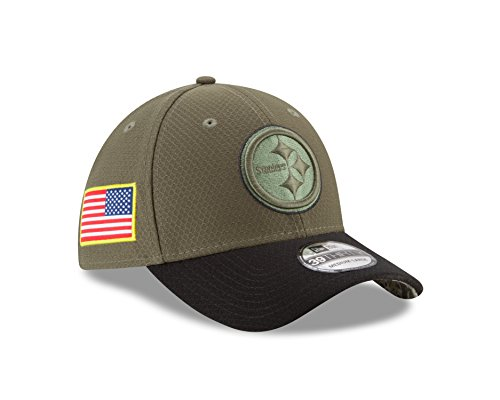 "Pittsburgh Steelers New Era NFL 39THIRTY 2017 Sideline ""Salute to Service"" Hat – DiZiSports Store"