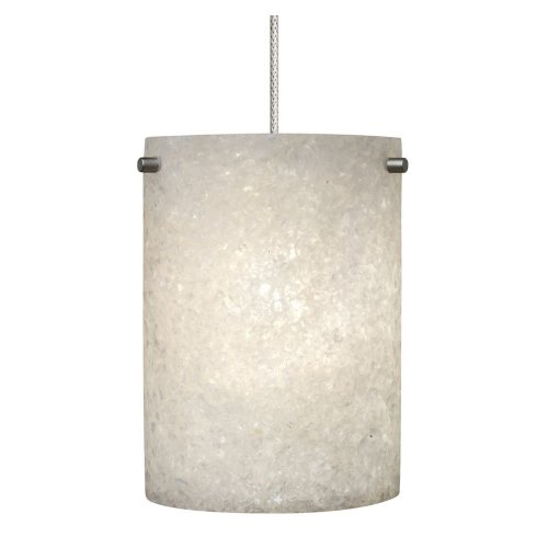 Nickel Matt Track - Tiella ~ Brynn Crushed Glass ~ Low Voltage ~ Pendant Kit ~ Matt Nickel Finish