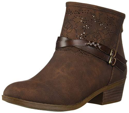 Blowfish Women's San Fran Ankle Boot, Tobacco Rustic Faux Suede, 8 Medium US