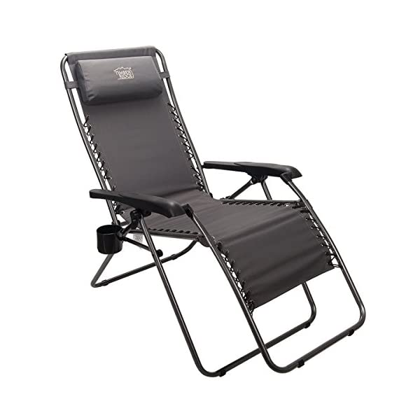 Timber Ridge Oversized Zero Gravity Chair - Black