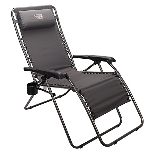 Timber Ridge Zero Gravity Locking Lounge Chair Oversize Recliner for Outdoor Beach Patio Pool Support 300lbs