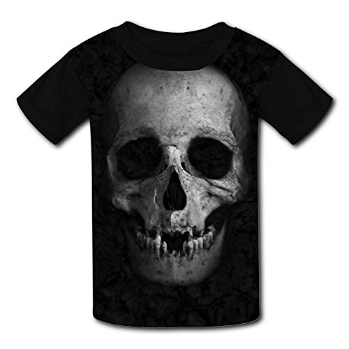 Kids/Youth Stylish Dead Skull Comfortable T-Shirts Short Sleeve Children Tees Funny Creative