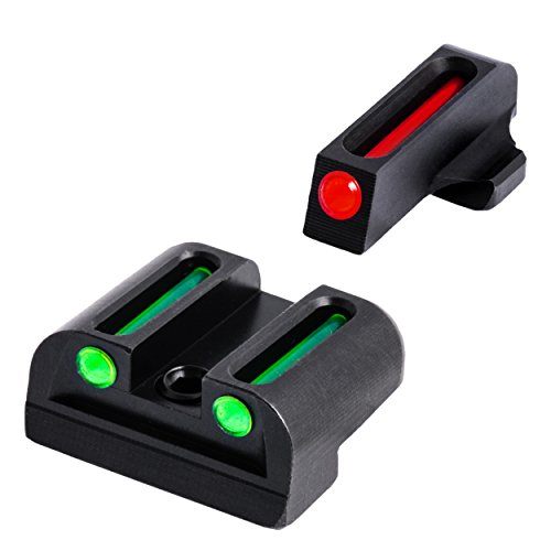 TRUGLO Fiber-Optic Front and Rear Handgun Sights for Sig Sauer Pistols, Sig #8 Front / #8 Rear Sets (excluding P365 Models)
