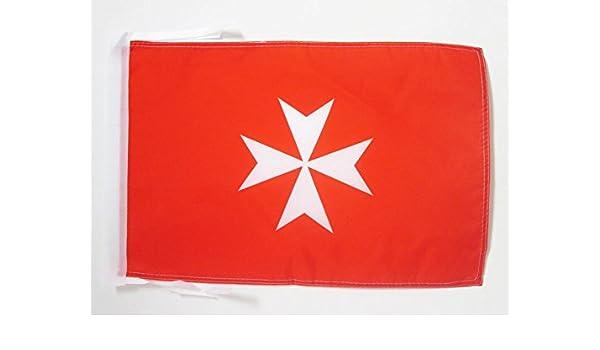 AZ FLAG Bandera de Las ATIVIDADES DE LA Orden DE Malta 45x30cm - BANDERINA San Juan DE JERUSALÉN 30 x 45 cm cordeles: Amazon.es: Hogar