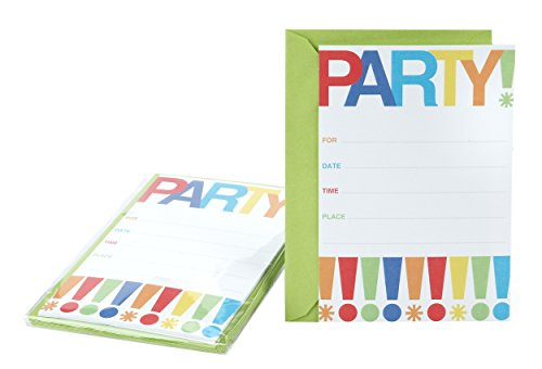 Hallmark Party Invitation Cards (Exclamation