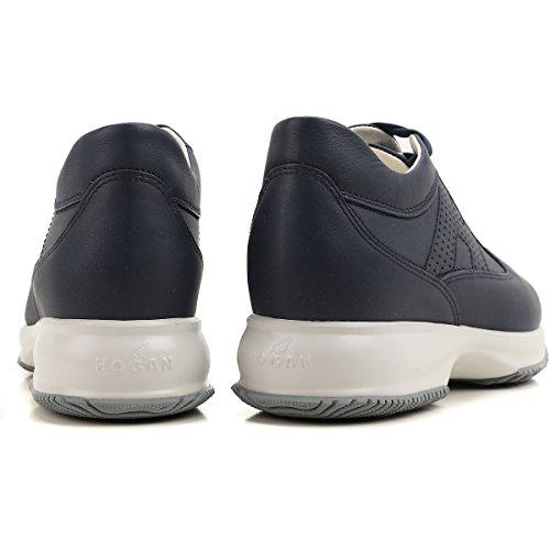 Interactive Donna HXW00N00E30DU0U810 Pelle in Blu Sneaker Hogan CxYq5wv5