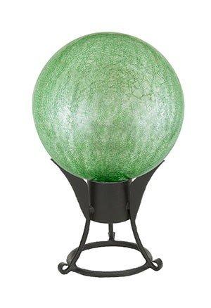 10'' Gazing Globe, Light Green, Crackle