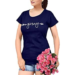 A-Y Fashion Casual Wear Fancy Cotton Round Neck T Shirts for Women/Girls